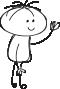 ilustration of waving boy